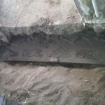 Fundamentet er gravet 70cm ned