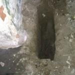 Her er et eksempel på et fundament hul