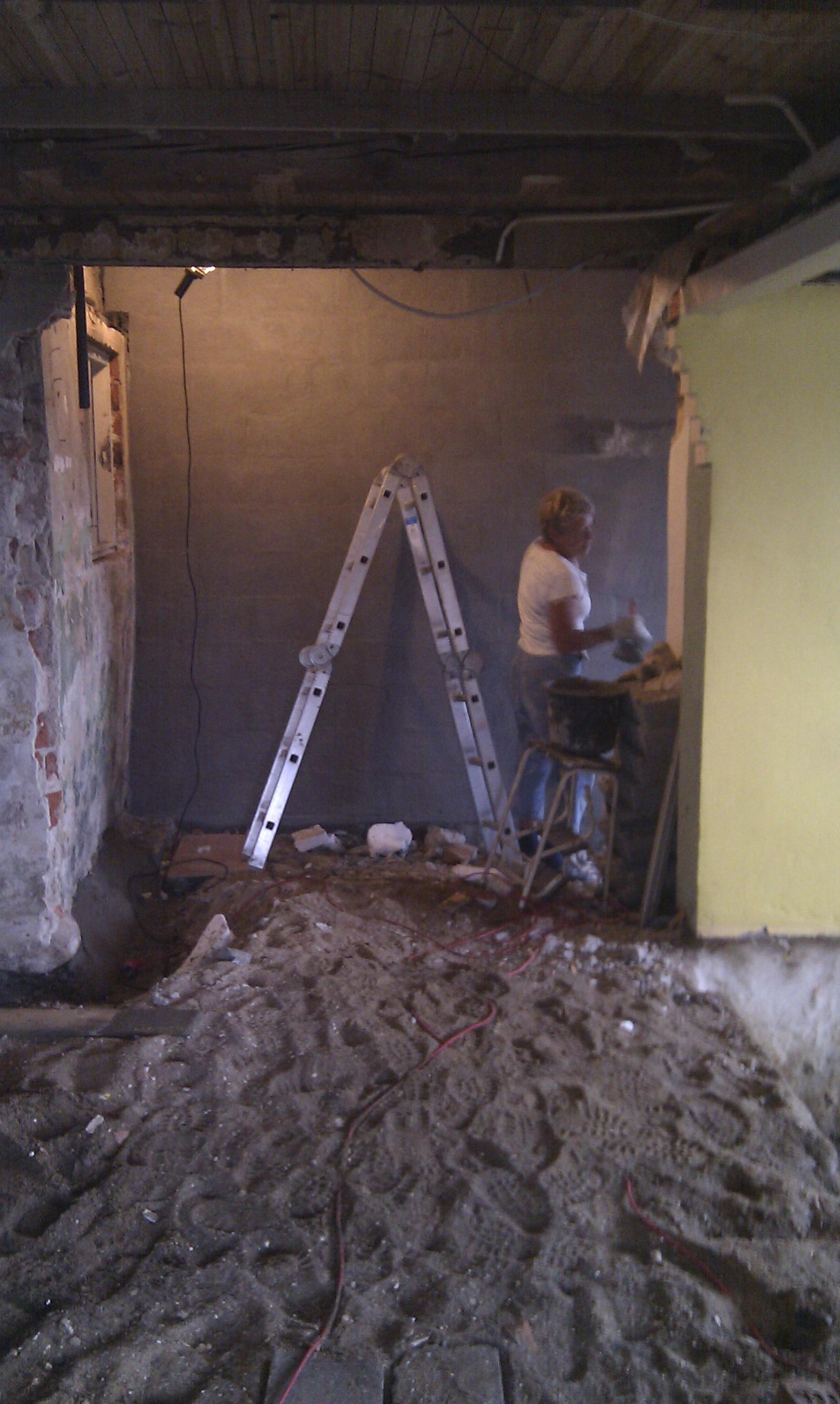 Men den blev nu godtnok rigtig flot den væg...