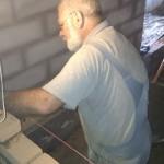 Far murer med molersten