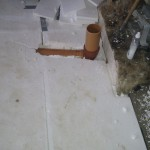 Færdig gulluftrør - det sidste vil blive stoppet op med PU skum for at forhindre at beton vil sive ned mellem rør og flamingo
