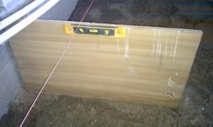 Authoriseret Målepind på 40cm + monteret vaterpas