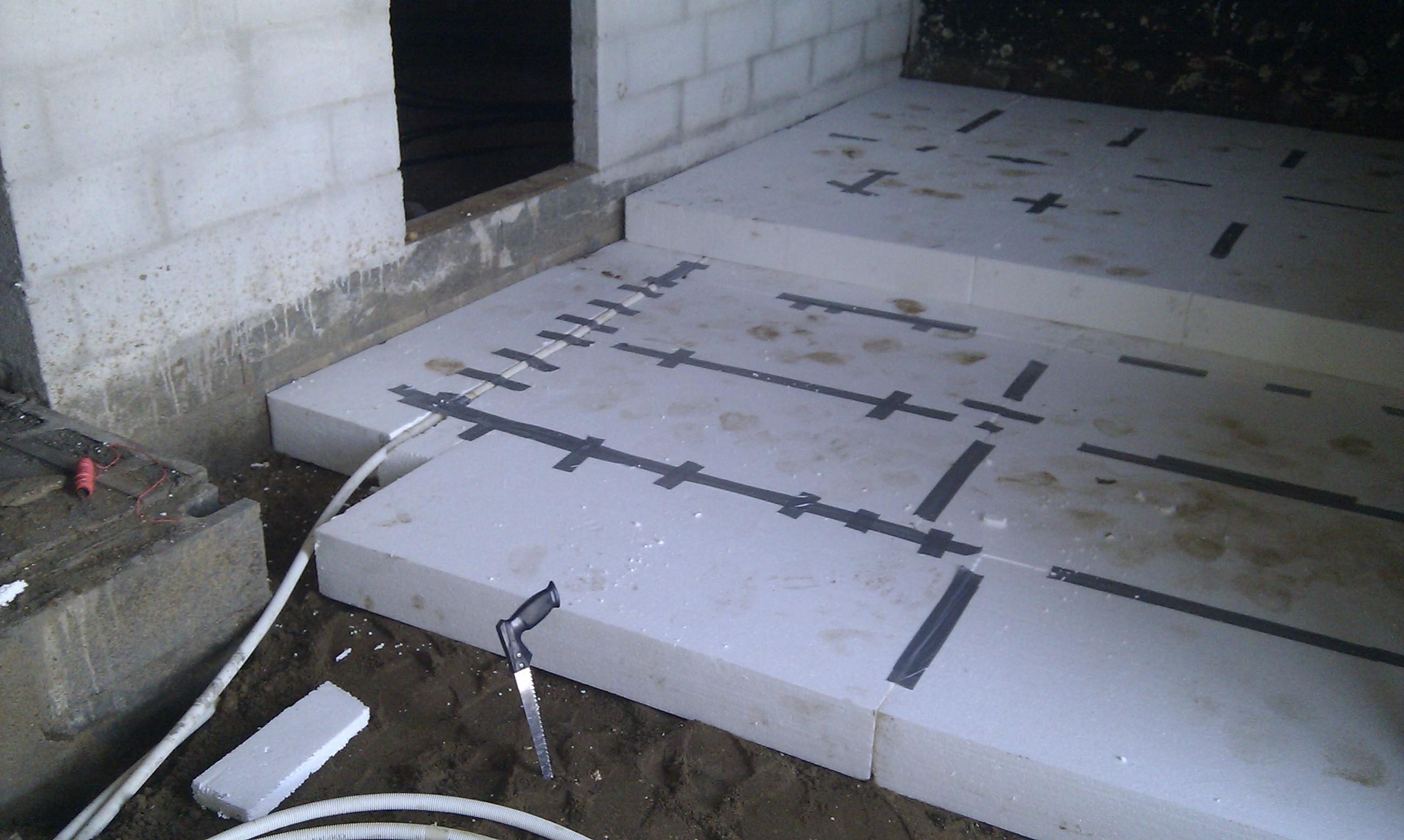Isolering af kældergulv med gulvvarme