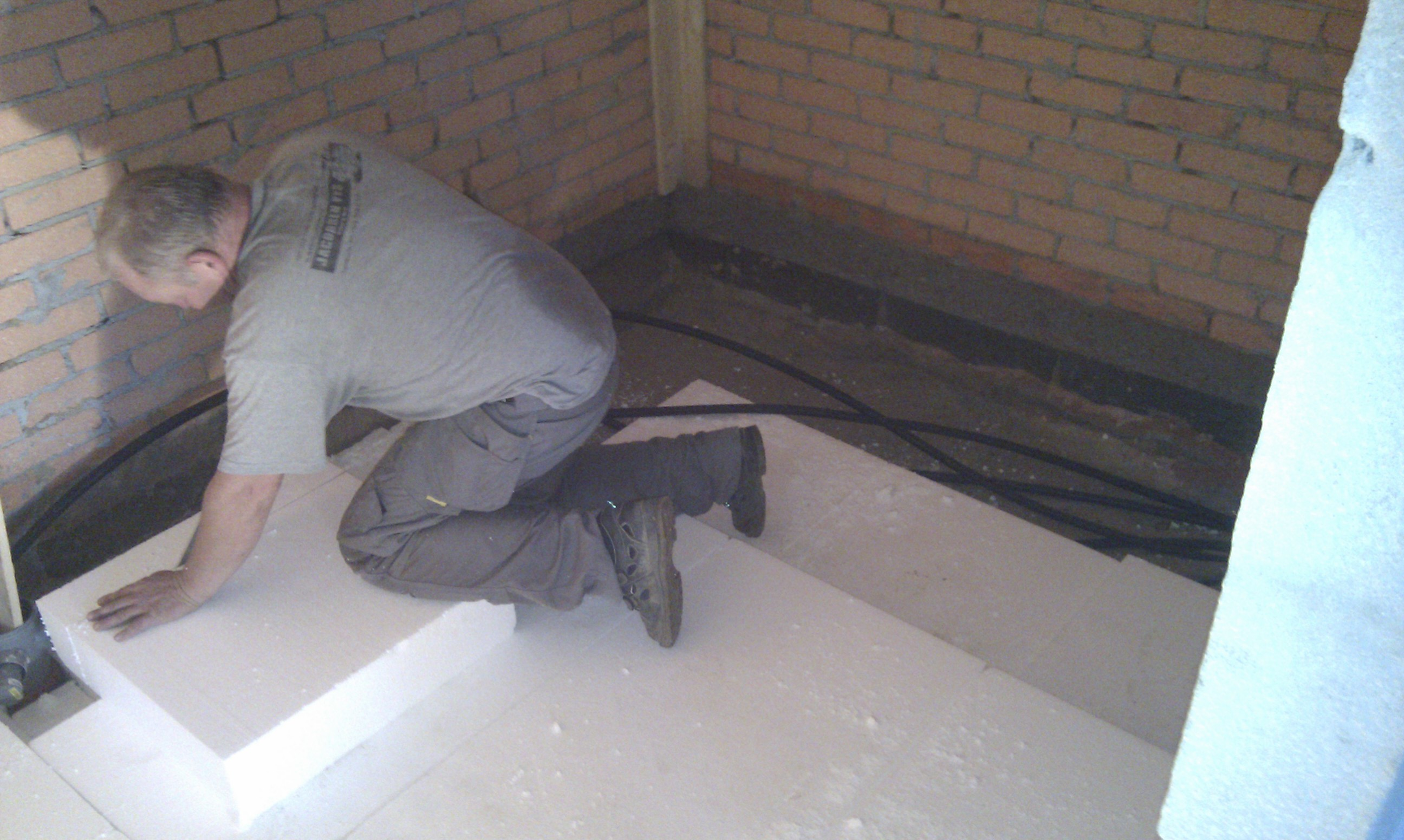 Opbygning af badeværelsesgulv flamingo