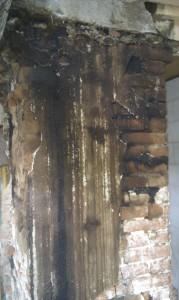 Isokern i gammel skorsten