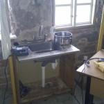 Midlertidig køkkenvask