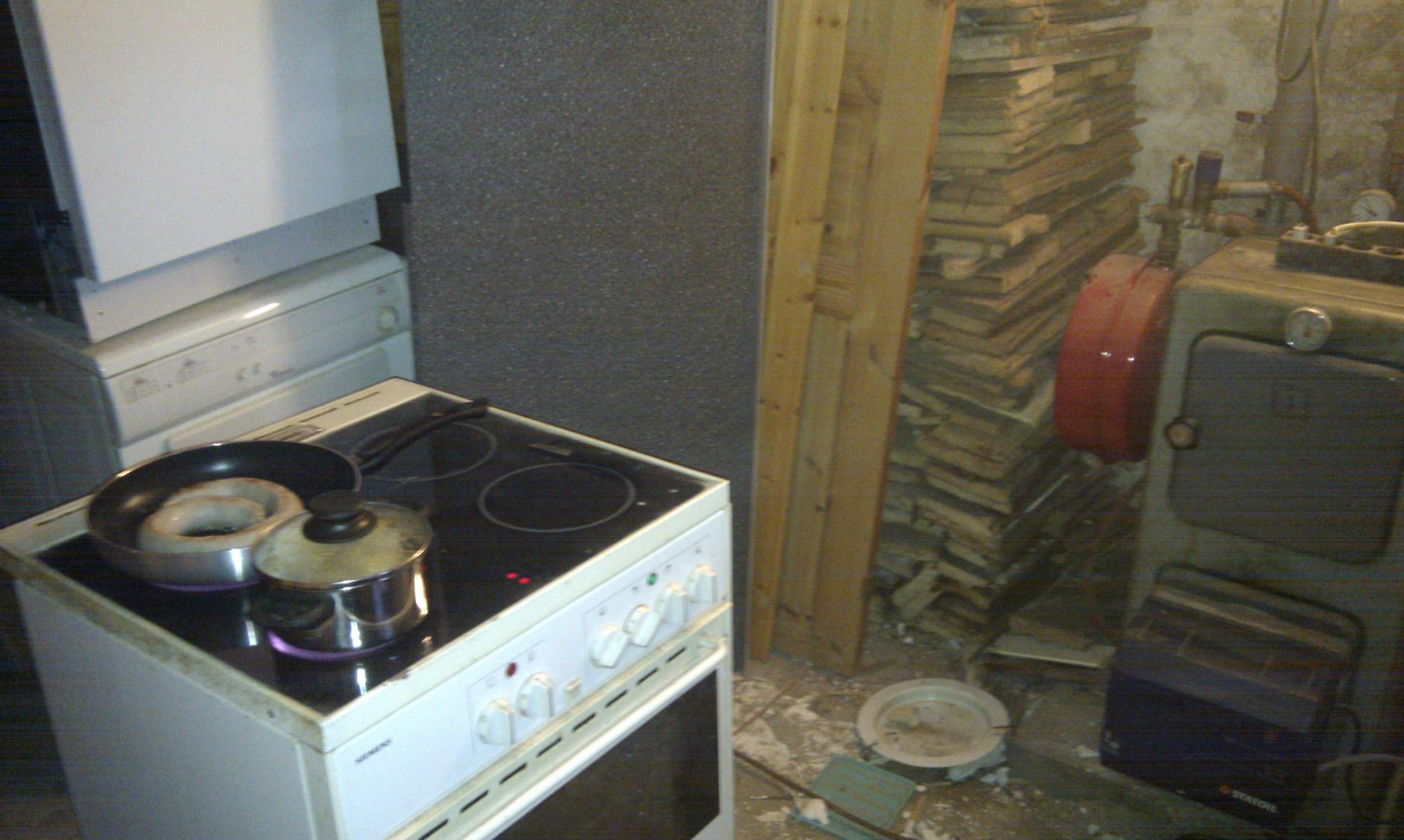 Midlertidig køkken