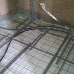 Rionet færdig i badeværelset bruseniche