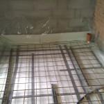 Rionet færdig i badeværelset toilet