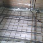 Rionet færdig i badeværelset toilet og vask