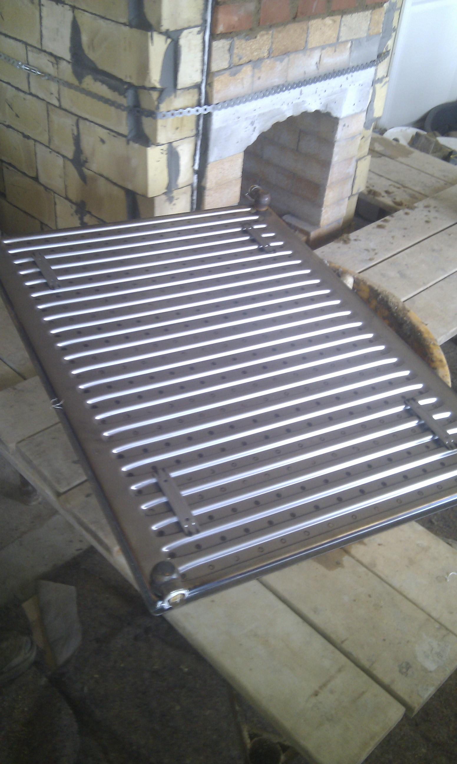Top radiator til masseovnen